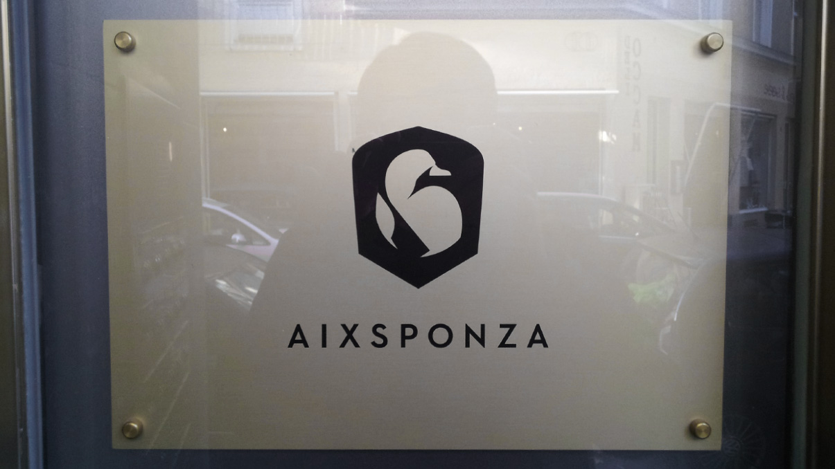 In front of Aixsponza´s office