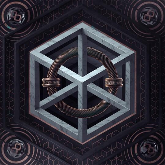 M.C. Escher Cube - Press to open animation loop on Instagram